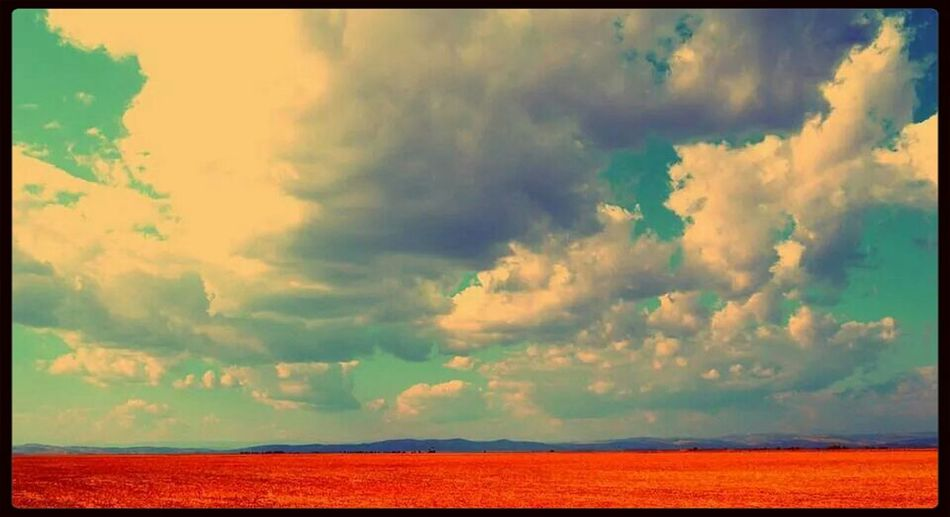 Landscape Red Clouds And Sky