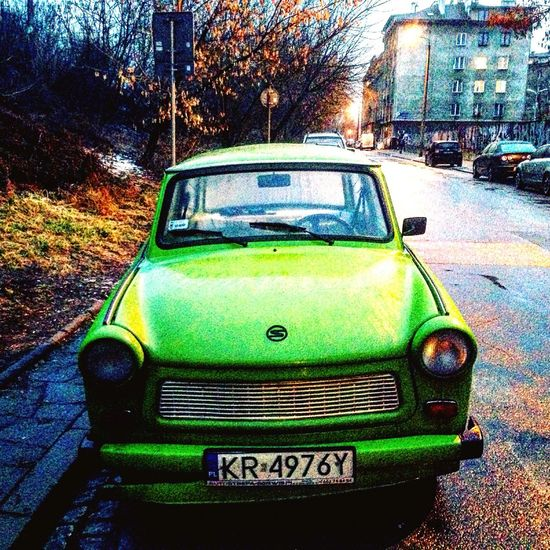 Trabant 601 Hello World Enjoying Life Travel Photography Trabant601 Cracow Krakow Poland Cars Car Oldcars Abandoned City Green Hulk Old First Eyeem Photo