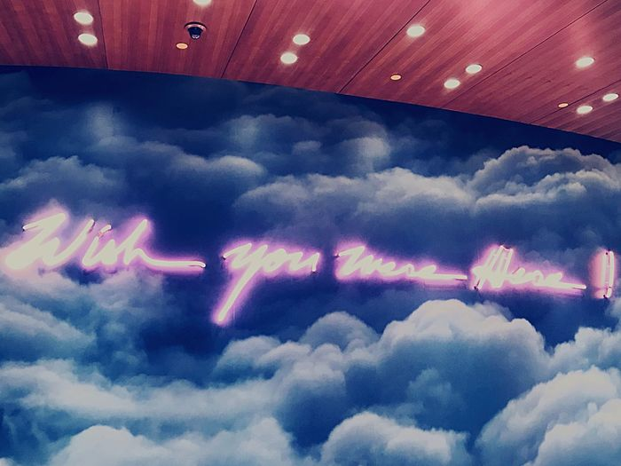 Wish you were Here ! Neon Cloud - Sky Sky No People Low Angle View Multi Colored first eyeem photo