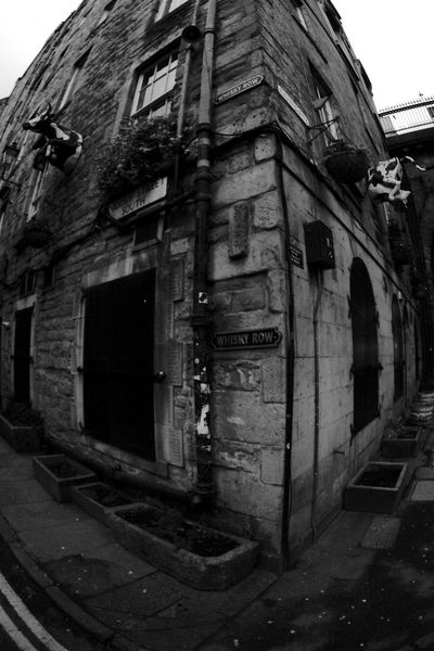 Cow-Corner-Gate Whisky Row Architecture Blackandwhite Building Exterior Built Structure Cowgate Day No People Outdoors