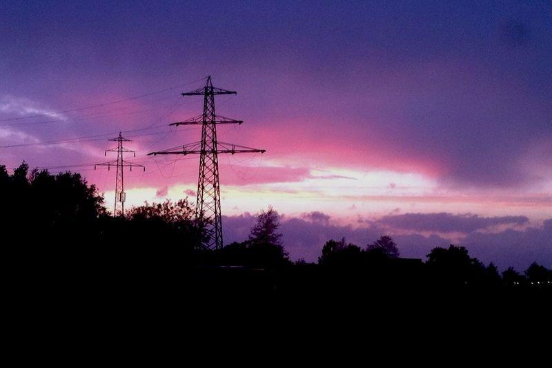 Skyart Power Lines Make Magic Happen Great Sky