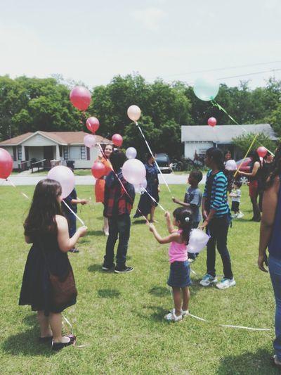 Kids Balloons Summer Urban Nature