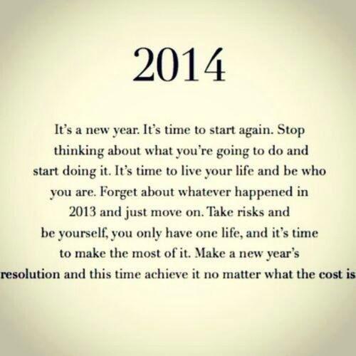 """ومع صباح اول يوم في العام الجديد ١ / يناير/٢٠١٤ ، أتمنى لكم سنہ خاليہ من الأوجاع ومليئہ بالسعاده والحُب♡ ... 2014 .."""""""