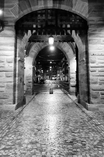 Arch Built Structure Night Quiet Places Alone Blackandwhite Blackandwhite Blackandwhite Black And White Black & White Basel Rain Rainy Night The Architect - 2018 EyeEm Awards