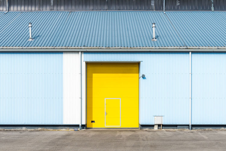 Exterior of yellow door