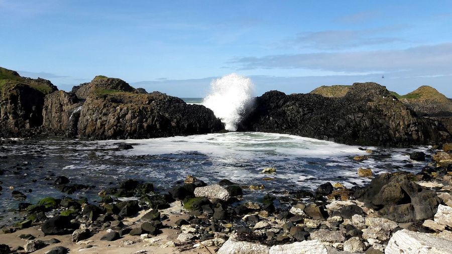 Crashing waves at Ballintoy Ballintoy Ballintoy Harbour Sea Nature Water Outdoors Beauty In Nature Wave Power In Nature Horizon Over Water Waves Crashing Crashing Waves  Waves Rolling In Seascape Beauty In Nature EyeEm Selects