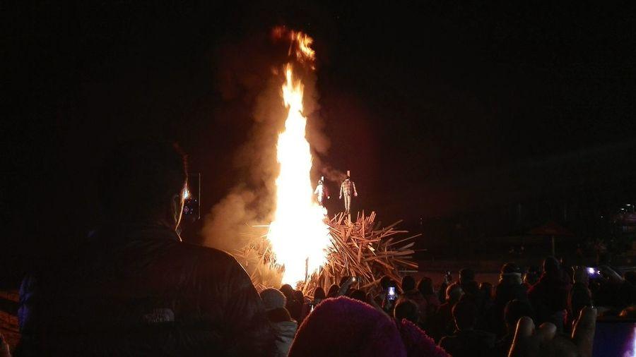 Cruz de mayo! Crowd Illuminated Fire Pit Adventures In The City