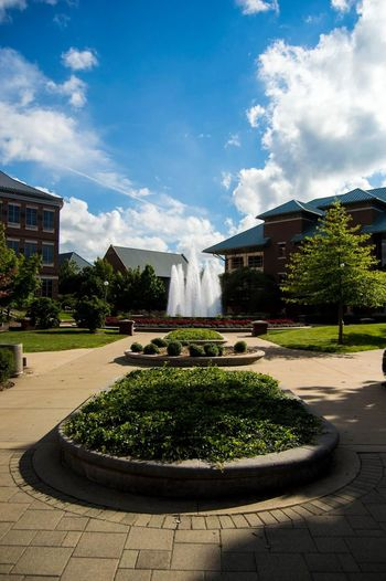 Architecture City Cloud - Sky Day Formal Garden Fountain No People Sky Travel Destinations Tree Water