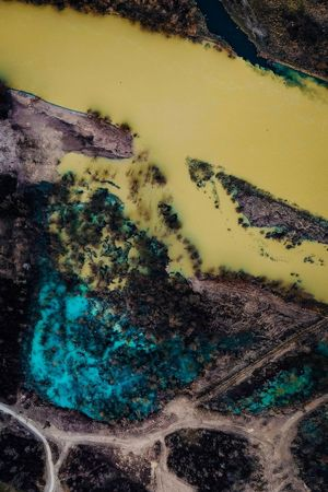 Nature Cocktail Dronephotography Dji Spark DJI X Eyeem Pollution No People Outdoors Riverside Nature Aerial Photography Aerial View