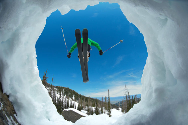 Adventure Cold Temperature Creative Day Extreme Sports Full Length Fun Leisure Activity Low Angle View Mid-air Mountain Mountain Life Mountain Range Nature Outdoors Ski Ski Holiday Skier Skiing Sky Snow Rewilding Sport Vacations Winter Your Ticket To Europe Mix Yourself A Good Time Been There. Be. Ready. Perspectives On People Shades Of Winter Go Higher Visual Creativity The Great Outdoors - 2018 EyeEm Awards 10 Be Brave