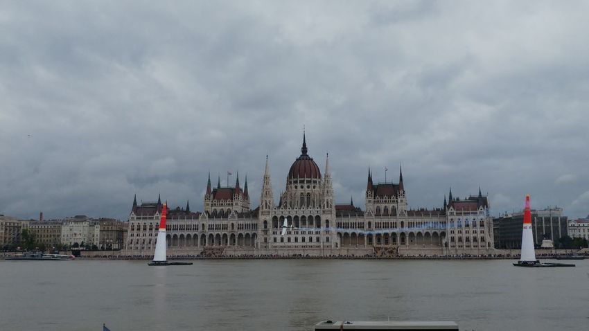 Redbullairrace Budapest, Hungary Parliament The Color Of Sport Budapest Hungary Capital City Rainy Days Plane Air Race Hungarian Hungarian Parliament Hungarian Parliament Building