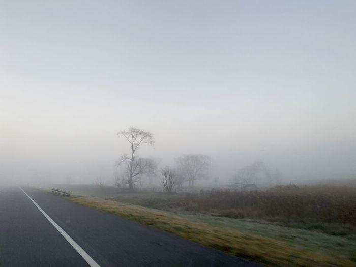 Road Fog Sky