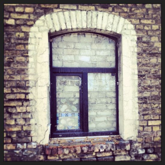 Brick Brick Wall Built Structure Drapes  Drivel Glass Mukusalas Nonsense Riga Wall Window