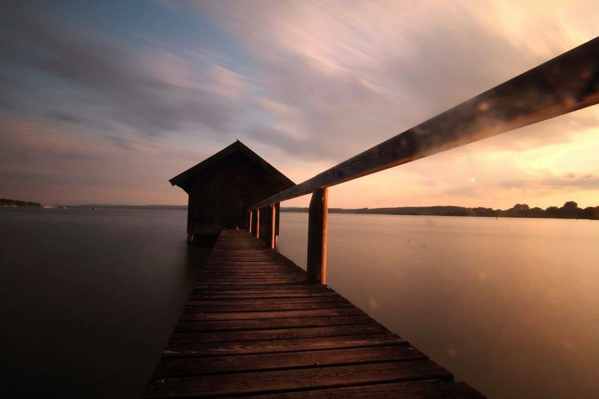 Water Built Structure Sunset Pier Sea Sky Architecture