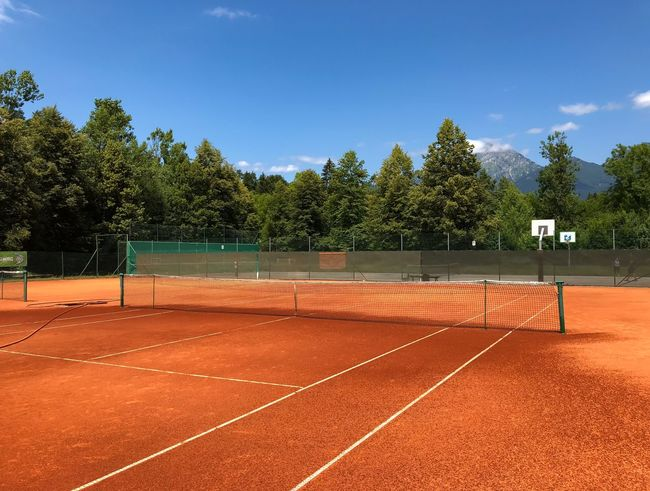 Let's play some tennis 🎾 Racket Sport Atp Playing Tennis Nature Tennis Line Tennis Match Tennis Game Tennis Practice Sunny Day Summer Tennis Sand Orange Sand Empty Tennis Court Tennis Court Tree Sport Plant Sky Nature Day No People Playing Field Tennis Outdoors Net - Sports Equipment Court Tennis Net Empty