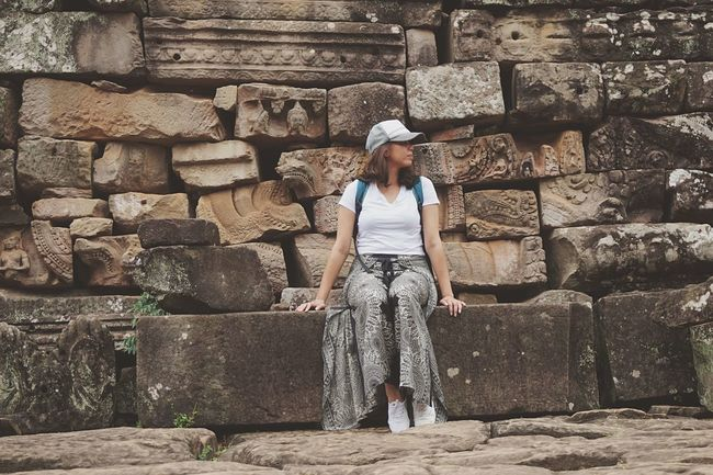 When you're thinking of your next travel destination Ancient Structure Siem Reap Temple - Building Bayon Temple Cambodia EyeEm Best Shots Real People Wall - Building Feature