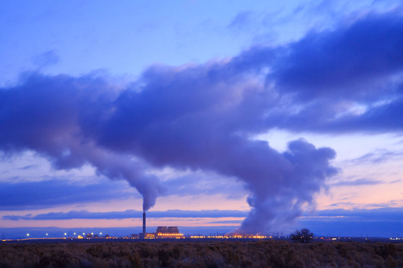 Power plant sunrise Dramatic Sky Clouds And Sky Rural Scene Nature Extreme Weather Landscape Power In Nature Environment Power Plant Delta, UT