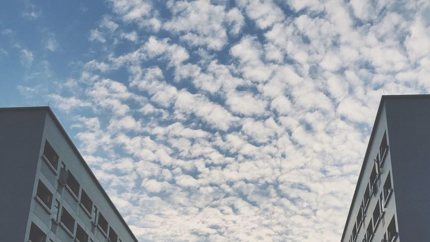 sky Low Angle View Architecture Sky Cloud - Sky Day Built Structure Building Exterior EyeEmNewHere