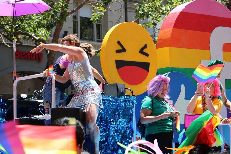 Facebook float at sf pride parade Lifestyles Excitement Fun Enjoyment EyeEmNewHere