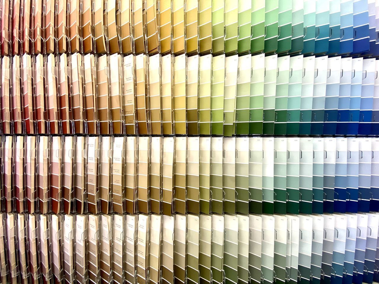 backgrounds, full frame, indoors, multi colored, pattern, no people, variation, choice, side by side, in a row, close-up, repetition, order, arrangement, still life, large group of objects, textile, white color, abundance, art and craft, color swatch