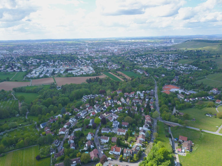 Heilbronn in der Vogelperspektive Farview Forrest Wine City Aerial View High Angle View Sky Cloud - Sky