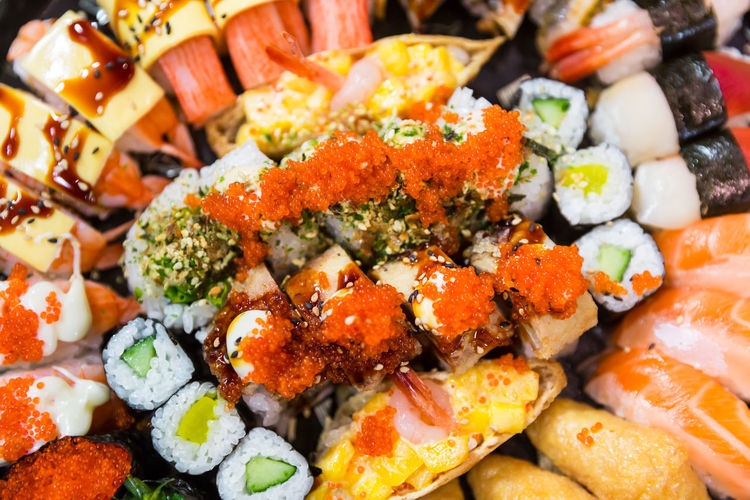 Close-up Colorful Delicious Dinner Time Eat Enjoying Life EyeEm Best Shots Fish Food Food And Drink Food And Drink Food Styling Foodphotography Freshness Healthy Eating Hungry Japan Macro Mealtime Ready-to-eat Salmon Still Life StillLifePhotography Sushi Sushi Time