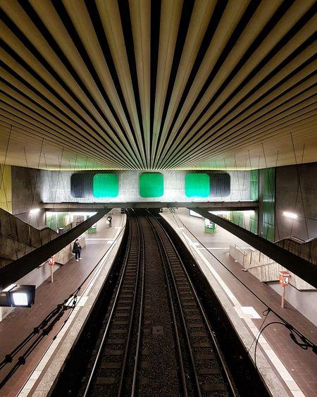 Underground Stuttgart Architecture Built Structure Undergroundphotography Transportation City Cityscape Underground Station  Underground Structures & Lines Symmetry