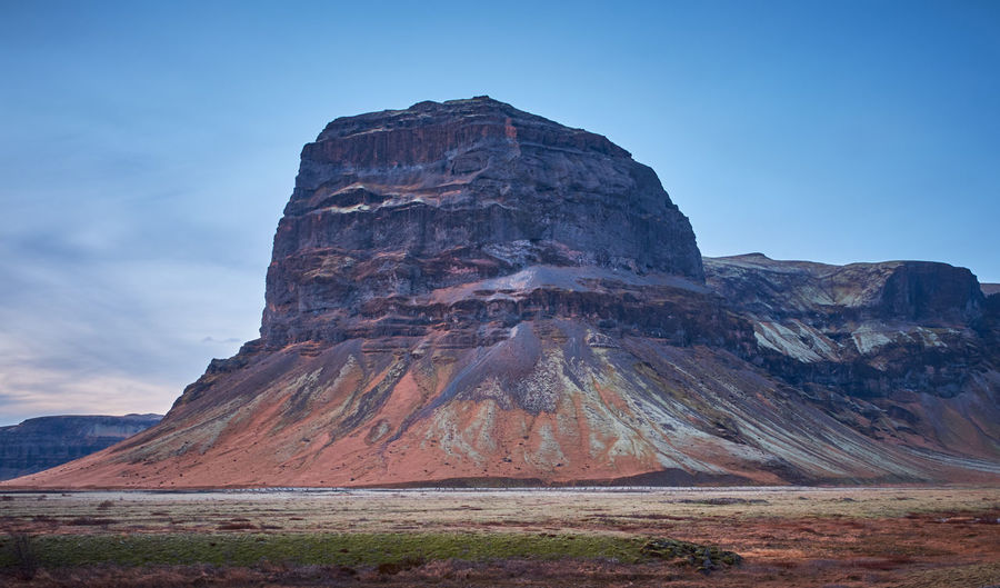 Iron Mountain Rock Sky Rock - Object Rock Formation Solid Mountain Beauty In Nature Geology Scenics - Nature Physical Geography Travel Destinations Nature No People Day Tranquil Scene Land Landscape Travel Mountain Range Formation Outdoors Eroded Mountain Peak Iceland