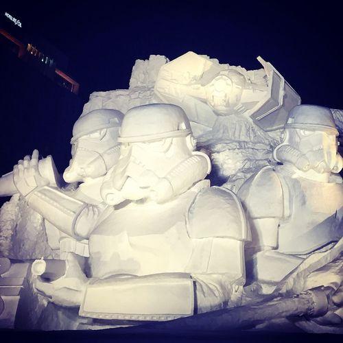 Snowsculpture Darth Vader Starwars Sapporro