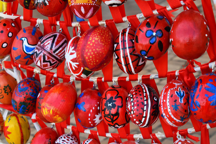 Easter festival of painted eggs decoration Art Authentic Celebration Colorful Colors Decor Decoration Decorative Easter Easter Eggs Eggs Ethnic Festival Festive Holiday Ornate Painted Red Ribbon Season  Show Tradition Ukrainian  Your Design Story