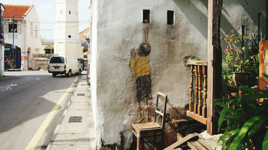 Street Art Penang EyeEm Selects Built Structure Day Outdoors Architecture Building Exterior No People