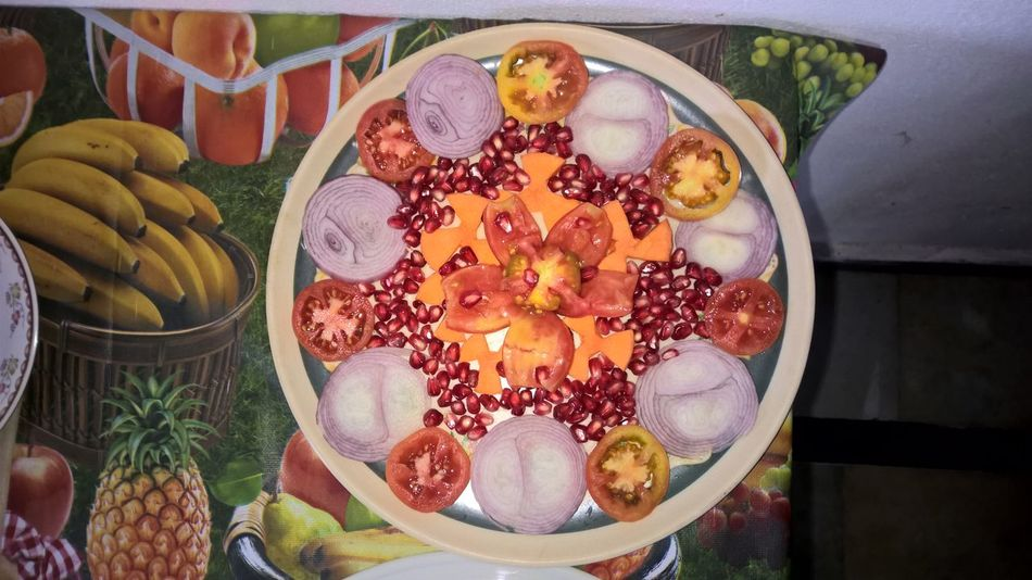 Close-up Day Flower Food Freshness Fruit Healthy Eating High Angle View Indoors  No People Plate Ready-to-eat Variation
