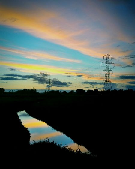 Sunset Pylon Urban Landscape Urbanphotography Countryside Summer SummerNights Pylons Pylons And Power Lines Power Lines Pylonporn Reflection Sunsetreflections Sunsetreflection Skyporn Sky Porn Sun Set Reflection Colours Sky Colours Sunset Colours Sunsetcolours Fresh On Eyeem