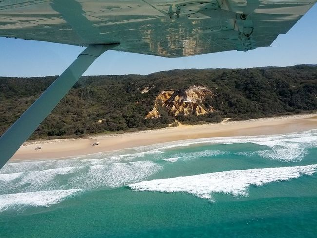 Flying over Fraser Island The Purist (no Edit, No Filter)