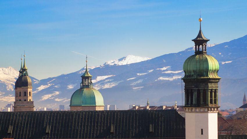 Architecture Austria ❤ Blue Building Exterior Clear Sky Mountain Roof Sky