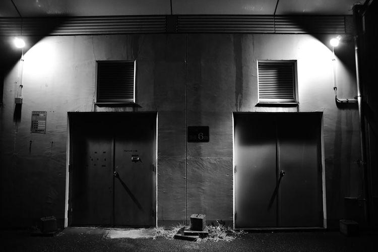Doorways of abandoned building