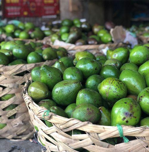 Avocado. Guacamole Food Market Basket Green Avocado Fruit EyeEmNewHere