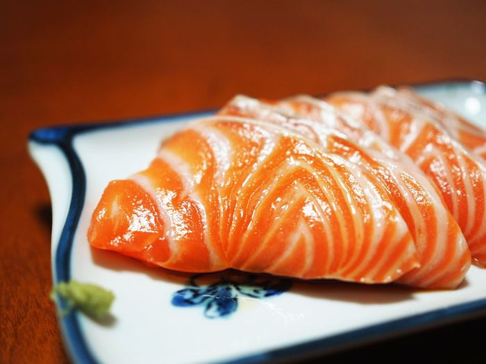 Close-Up Of Salmon On A Plate