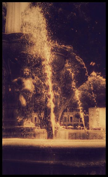 Bathing in the fountain Water Spraying Backgrounds Arts Culture And Entertainment Pixelated Old-fashioned Drop Close-up Sky
