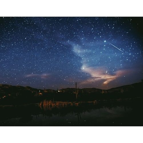Maybe we took this too far... Astrophotography Shootingstar Meteor Plake Hotspring Stargazing Lakeside Tucson Stars Latergram Cosmos Arizona Wish 1111 Thursdaynight Pinkclouds