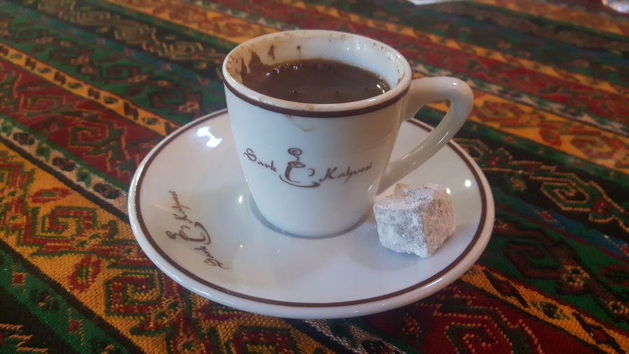 Cafe Coffee - Drink Drink Food And Drink Table Coffee Cup Indoors  No People Turkishcoffee Istanbul Turkiye Tourism Tourist Attraction  Grand Bazard Colors Colourful Tasty Tasty Coffee Delicious ♡ Halkoum Turkish Delight Turkish Halkoum Turkishdelight Coffee Time Coffee And Sweets Coffee ☕