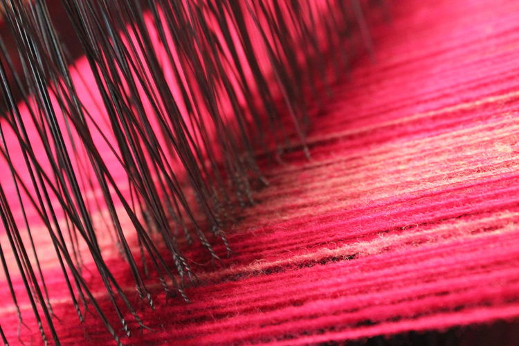 Abstract Art Chassis Colorfull Detail Focus On Foreground Frame Handmade Loom Needles Pattern Pink Pink Color Red Saintfagans Selective Focus Textile Textile Art Textileart Textured  Travel Travel Photography Uk Wales Wool