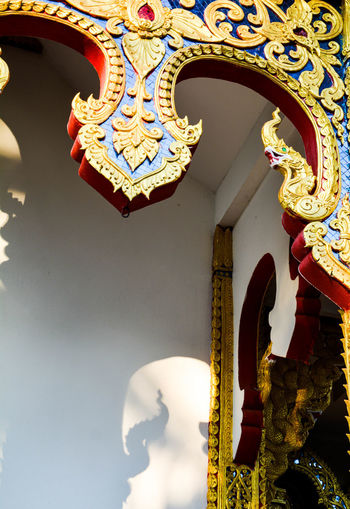 Dragon Naga Architecture Building Exterior Close-up Day Hanging Indoors  Lighting Equipment Line Thai Low Angle View No People Ornate Sculpture Temple Temple Architecture