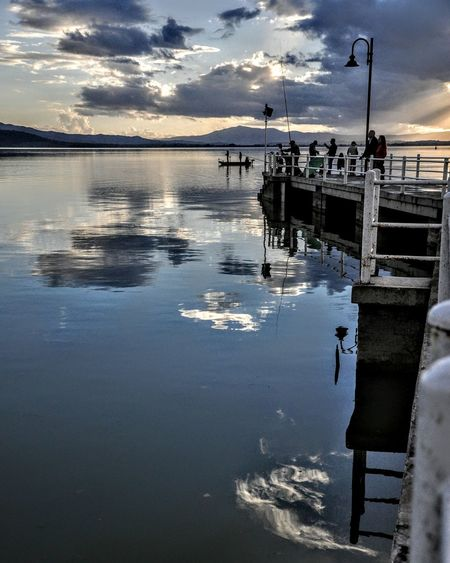 Trasimenolake Reflection Cloud - Sky Tranquility Water Beauty In Nature Sky Nature Outdoors Scenics No People Day