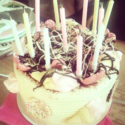 Cake Personalised Yummy Pink White Bakery