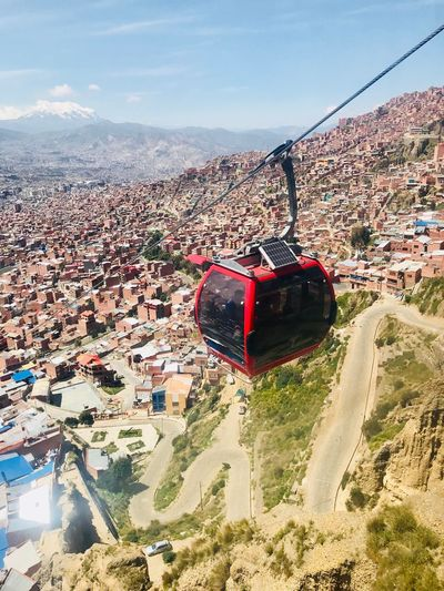 La Paz, Bolivia Transportation Gondel Doppelmayr Sky Day Architecture City Cityscape Transportation Go Higher