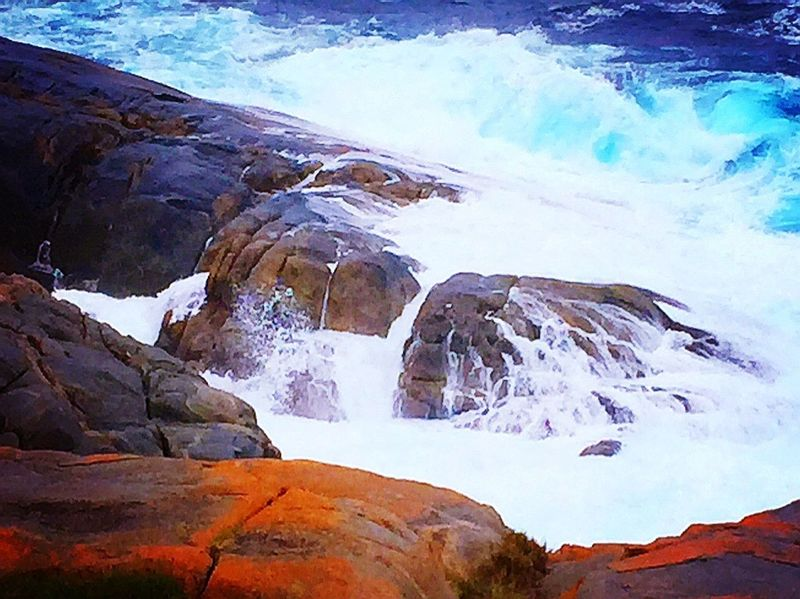 Blue Wave Original Photography Travel Photography Popular Travel IPhone Photography Taking Photos Showcase April Beautiful Nature EyeEm Nature Lover West Australia Ocean Rocks Water Waves Nature Movement Pattern, Texture, Shape And Form The KIOMI Collection