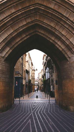 Archway on street