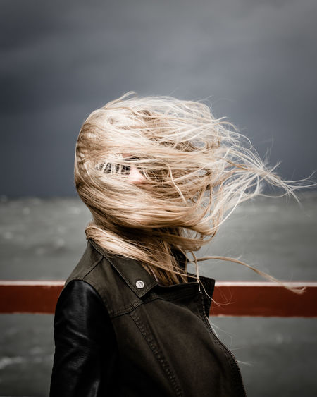 Windy... Baltic Sea Blonde Hair Blondie Darkness And Light Focus On Foreground Girlfriend Hair Hairstyle Headshot Let Your Hair Down Long Hair Ocean Outdoors Sea And Sky Sky Storm Stormy Weather Windy Day Market Reviewers' Top Picks