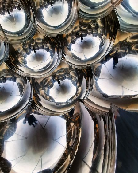 High angle view of glasses on table
